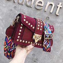 Rivet Crossbody Bags For Women Luxury Handbags Designer Famous Brand Bolsa Feminina Shoulder Bag Ladies Sac Main Leather Purses недорго, оригинальная цена