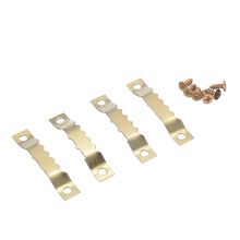 Hot Sale 100 Sets Gold Saw Tooth Hangers Hanging Canvas Picture Photo Wall Oil Painting Mirror Hook with Screws 45*8mm