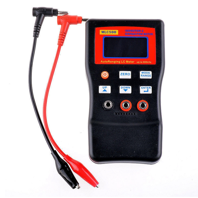 Mlc500 500Khz High Precision Digital Display Automatic Range Inductance And Capacitance Meters Tester English manual USB