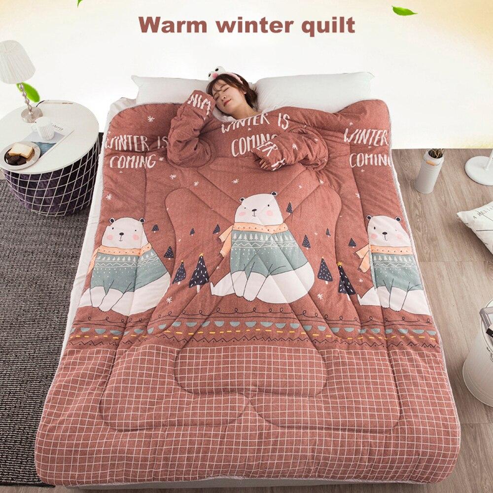 Édredons d'hiver chauds automne paresseux couette avec manches couverture de famille Cape Cape Cape sieste couverture dortoir manteau couvert couverture