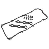Oil Filter Valve Cover Set Seal Gasket Black For BMW E36 E39 Z3 M52 S52 1996 1997 1998 1999 2000