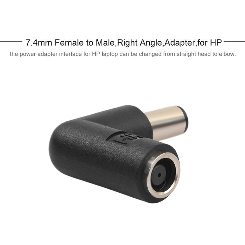 1Pcs 7.4mm Female To 7.4mm Male 90 Degree Right Angle Connector Adapter Converter For HP DELL Laptop