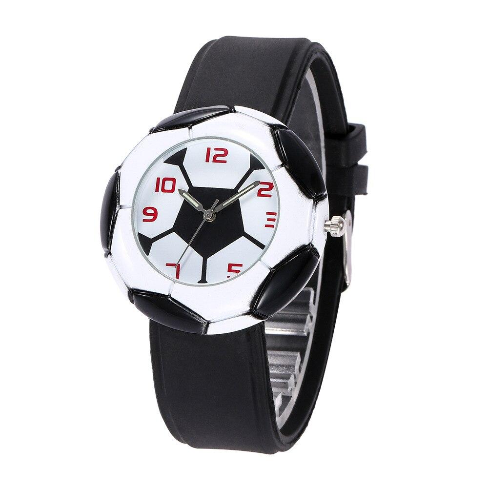 Child Watch Boys Football Wristwatches Quartz Silica Gel Student Children Watch