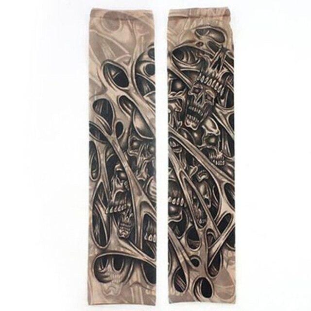 Fashion Men Tattoo Sleeve Stretchy UV Protection Slip Mangas Elastic Nylon Tattoo Arm Leg Sleeves for Women Sun Protection 3