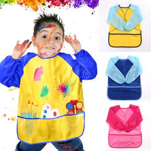 PUDCOCO Painting Waterproof Anti Wear Childrens Apron Costume Smock Kids Craft Blouse