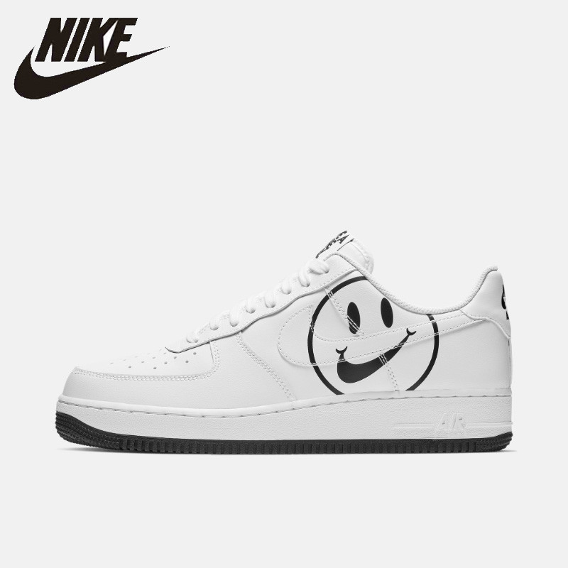 NIKE AIR FORCE 1 Original Men's Skateboard Shoes Outdoor Comfortable Non-slippery Outdoor Sneakers #BQ9044-100