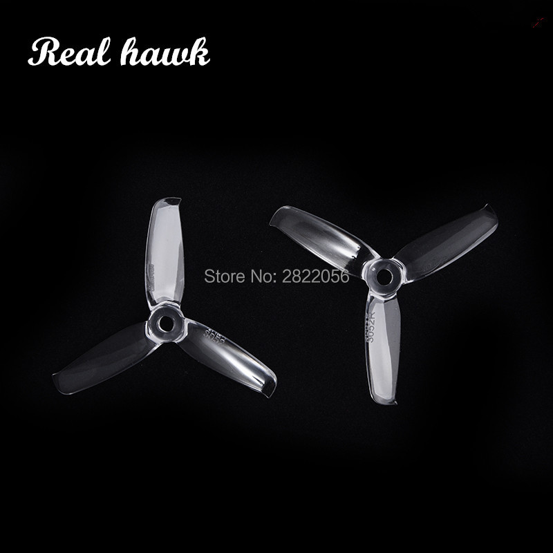 2pair 6 colors Gemfan <font><b>3052</b></font> 3.0x5.2 FPV PC 3 propeller Prop Blade CW CCW shaft through the machine more special motor 1306-1806 image