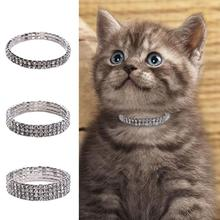 Fashion Diamond Pet Collar Glamour Dog Tag Puppy Cat Nameplate Rhinestone Necklace Small Supplies
