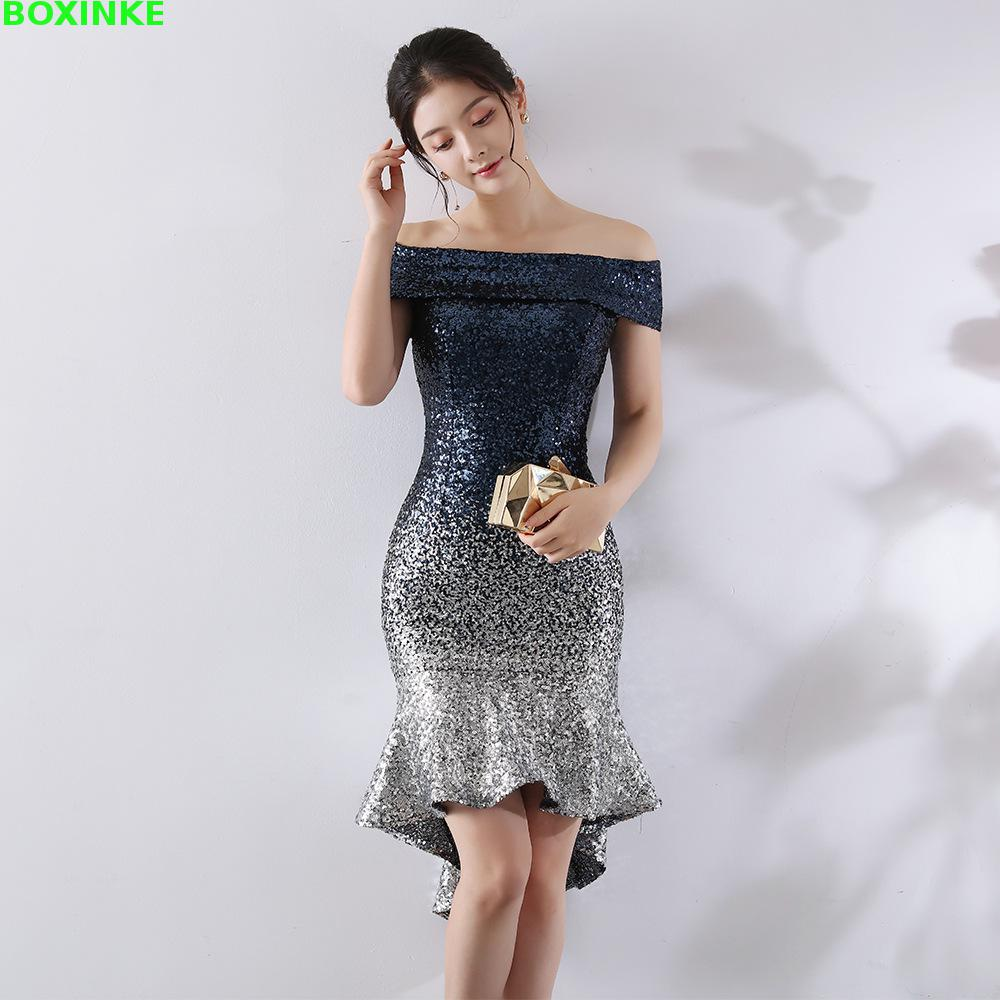 2019 Real Vestidos Mujer Europe And The Wrapped In Chest, A Gradual Change Of Beads, Hip Sexy Dress, Dinner Night Dress Sequins-in Dresses from Women's Clothing    1