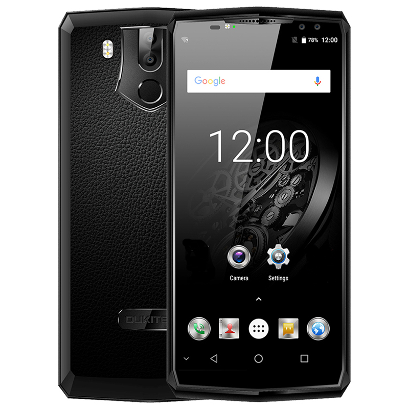 OUKITEL K10 4G Smartphone 6.0 Android 7.0 MTK6763 Octa Core 2.0 GHz 6 GB + 64 GB ROM 11000 mAh Quad Caméras Reconnaissance D'empreintes Digitales