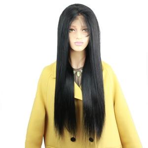 Image 5 - Eseewigs משי בסיס מלא תחרת שיער טבעי פאות טבעי תינוק שיער סביב מראש קטף שיער קו משיי ישר ברזילאי רמי שיער