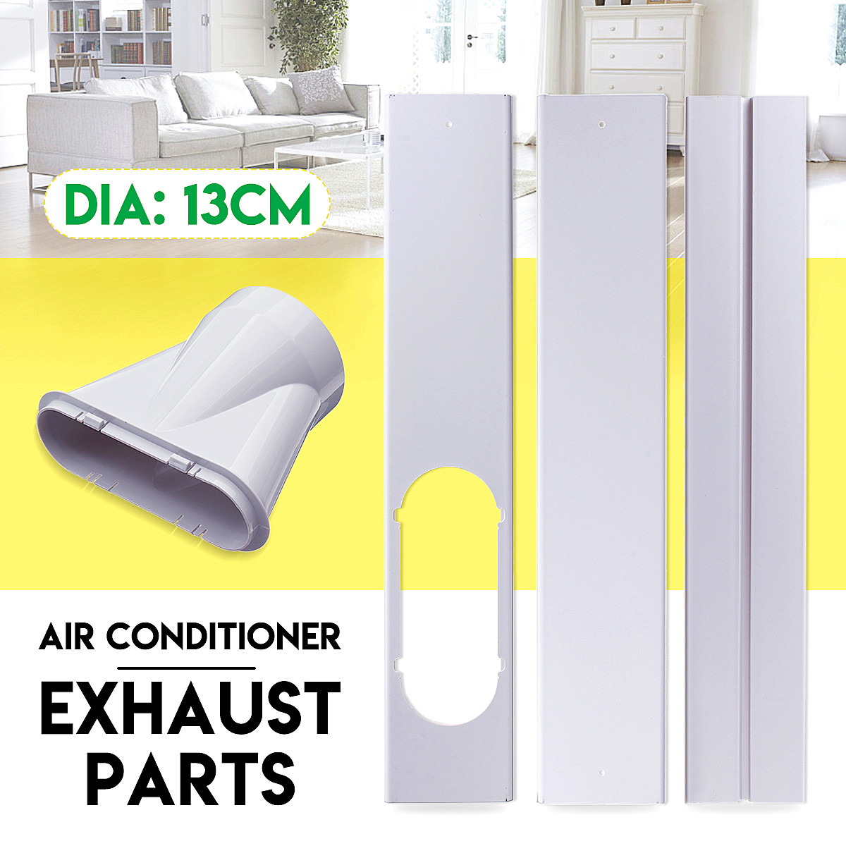 New Arrival 2019 165cm Window Adaptor/Window Slide Kit Plate Set Exhaust Tube Connector For Household Portable Air ConditionerNew Arrival 2019 165cm Window Adaptor/Window Slide Kit Plate Set Exhaust Tube Connector For Household Portable Air Conditioner