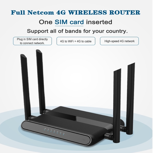 라우터 와이파이 300 mbps 기가 비트 GSM LTE 라우터 4 포트 무선 LEDE 라우터 4g lte lan 4G LTE 라우터 높은 수준의 PPTP, L2TP