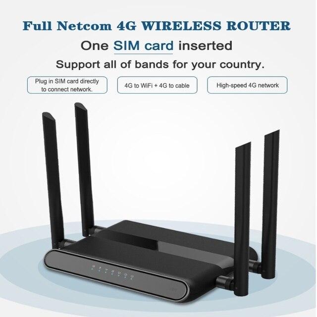 راوتر واي فاي 300 mbps جيجابت GSM LTE راوتر 4 منافذ لاسلكية LEDE راوتر 4g lte lan 4G LTE راوتر مستوى عال PPTP ، L2TP