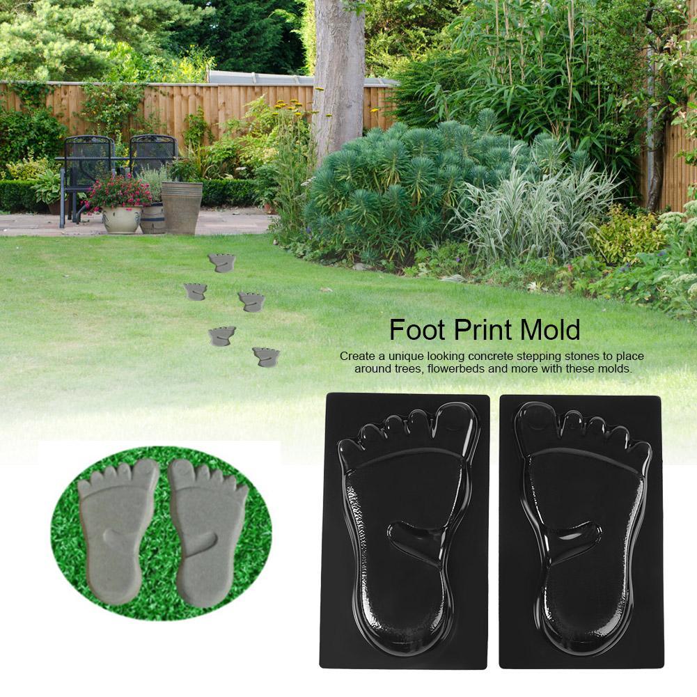 Fuß Druck Mold Beton Stein Pflaster Maker Garten Form Fußabdrücke Gehweg Garten Boden Straße Beton Stepping Einfahrt Pfad