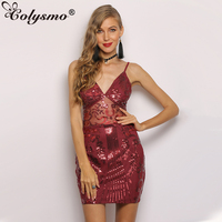 Colysmo Sequin Party Dress Summer Sexy Bodycon Dress Mesh Exquisite Embroidered Dress Mesh Spliced Glitter Dresses Robe Femme