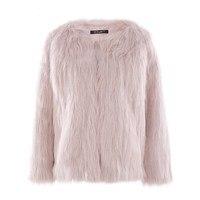 Short Faux Fur Coat Women Winter Warm Fake Fur Pink White Coat Female Fashion Streetwear Cardigan Loose Outerwear Plus Size
