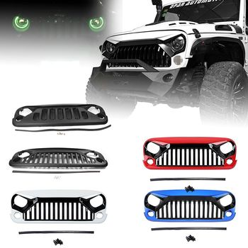 For Jeep Wrangler JK Front Racing Grille Cover Decoration With Insect Net Accessories 2007 2008-2016 Car Styling ABS Plastic