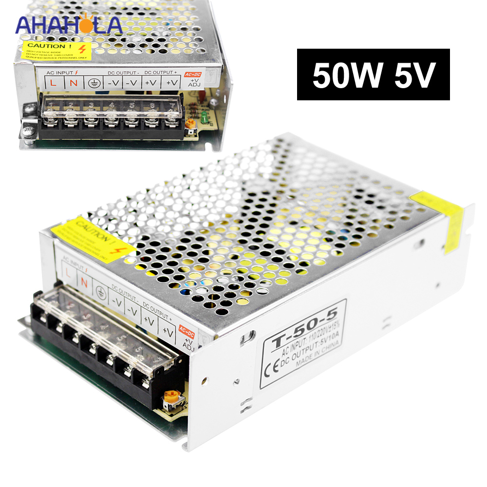 5v Power Supply 10a 50w Source Ac 220v to 5v Switching Power