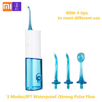Original Xiaomi SOOCAS W3 Oral Irrigator Set With 4 Tips Portable Water Dental Flosser Water Jet Clean Tooth Dental Cleaner