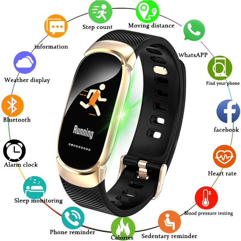 BANGWEI 2019 Novo Relógio Inteligente Homens Freqüência Cardíaca Relógio Do Esporte da Aptidão Rastreador Pedômetro Multi-função da Pressão Arterial Para IOS android