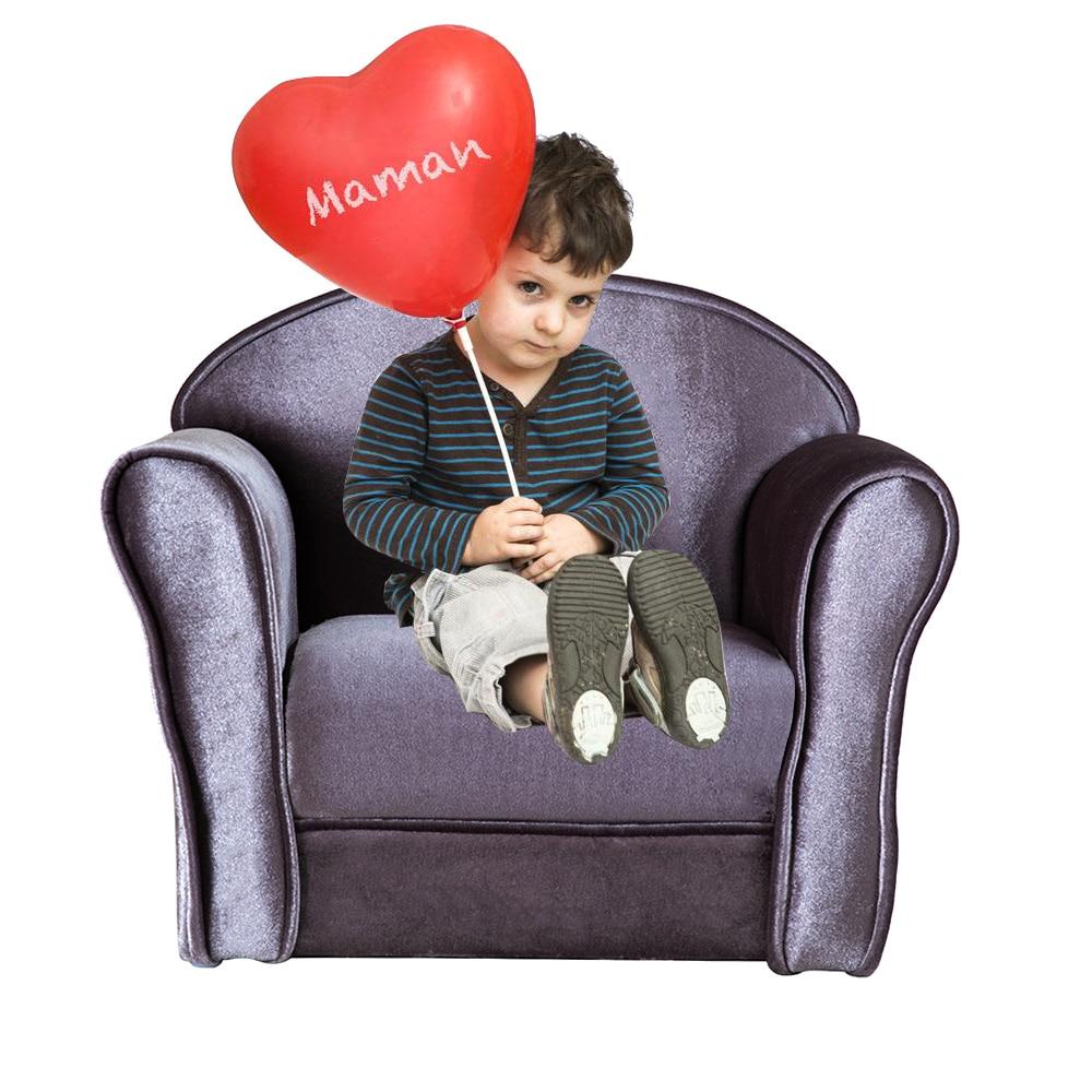 Modern Velvet Kids Sofa Chair Armchair For Children Small Arm Chair Living Room Bedroom For Games Reading Furniture