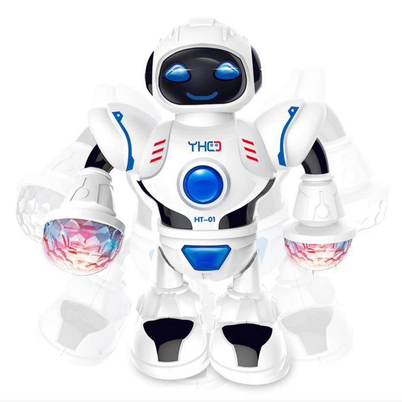New LED Light Music Dancing Humanoid Electric Robot Toy Children Pet Brinquedos Electronics Jouets Electronique For Boy Kid P4R