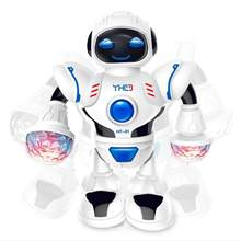 New LED Light Music Dancing Humanoid Electric Robot Toy Children Pet Brinquedos Electronics Jouets Electronique for Boy Kid P4R(China)