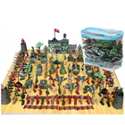 146Pcs Military Playset Plastic Toy Soldier Army Men 5Cm Figures & Parts New Hot