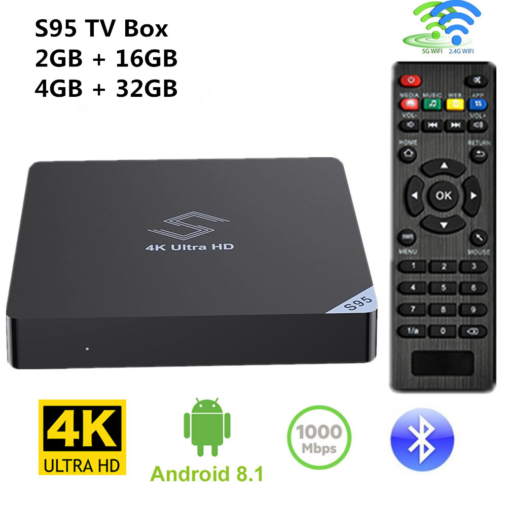 Android 8.1 Smart TV Box Amlogic S905X2 4 gb 32 gb 2.4 ghz + 5.8 ghz Double WiFi BT4.0 4 k H.265 Set Top Box Media Player 2 gb 16 gb