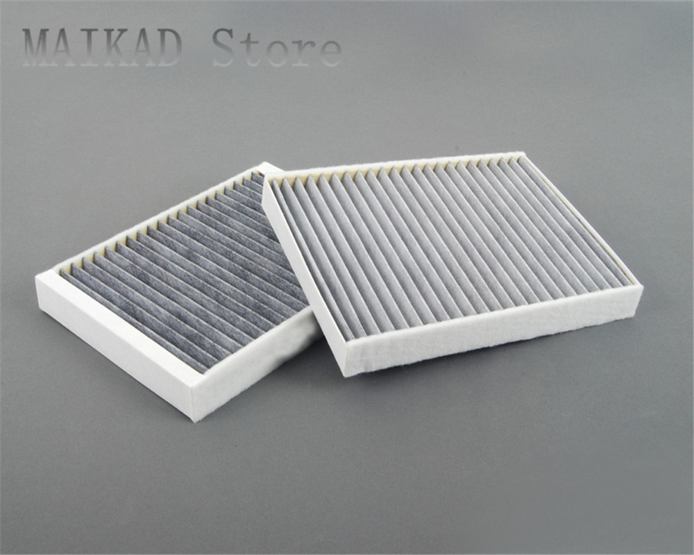 2PCS / set Activated Carbon Cabin Air Filter Pollen Filter for BMW E39 520i 523Li 525i 528i 530i 535i 540i 64312207985|Cabin Filter| |  - title=