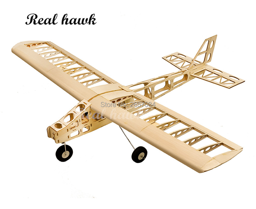 RC Plane Laser Cut Balsa Wood Airplanes Fixed wing exercise Frame without Cover Wingspan 1300mm Building
