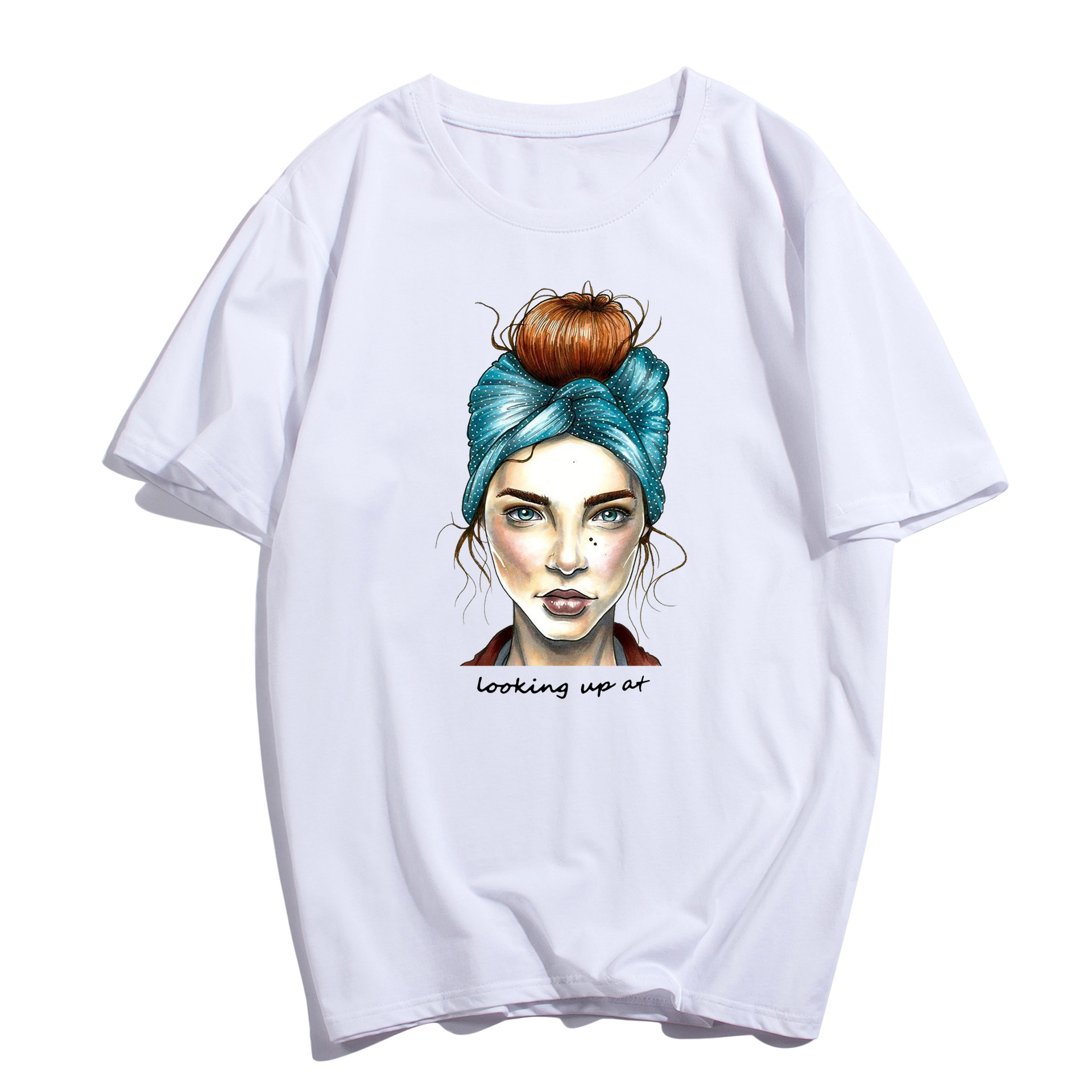 2019 Fashion Cool Print Female T shirt White Cotton Women Tshirts Summer Casual Harajuku T Shirt Femme Top Plus Size XS 4XL in T Shirts from Women 39 s Clothing
