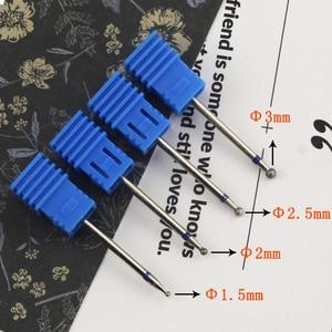 Image 3 - 8 סוגים יהלומי נייל מקדח רוטרי Burr לציפורן נקי חשמלי Bits עבור מניקור תרגיל אביזרי נייל מיל קאטר MF01 08