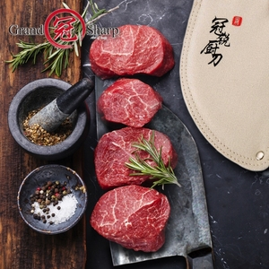 Image 2 - Couperet chinois couteaux de cuisine faits à la main, outils de cuisine de Chef, cadeau de noël tranchage de légumes et viande BBQ Camping en plein air