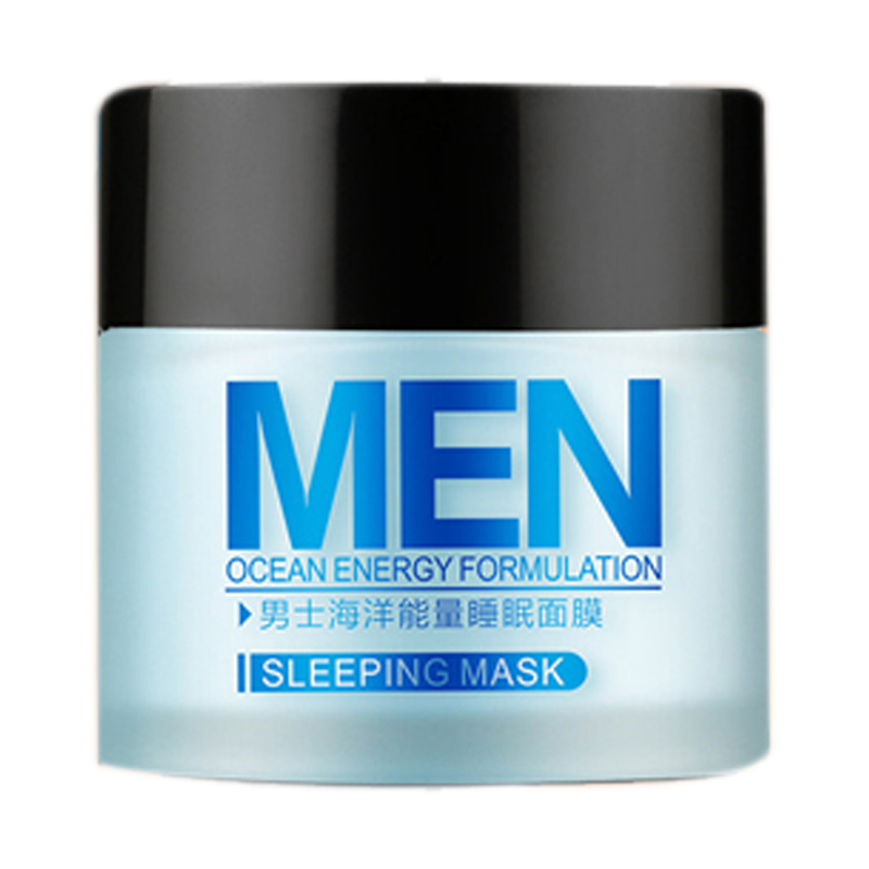 HTHL-LAIKOU Men Sleep Mask 70g Whitening Blackhead Acne Printed Shrink Pores And Oil Control Skin Care Products For Men image