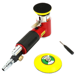 HHO 2inch 3inch Mini Air Sander Kit Pad Eccentric Orbital Dual Action Pneumatic Polisher Polishing Buffing Tools For Auto Body