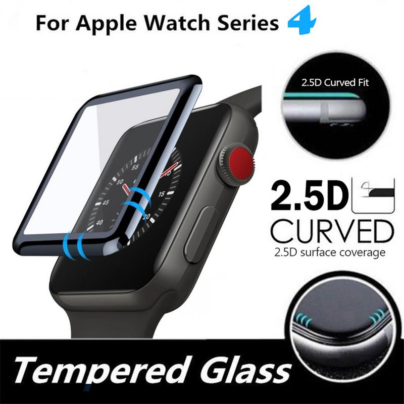 Image 5 - Soft Toughened Glass Film Durable Protector Anti fingerprint HD Touch Screen Patch Type Anterior Membrane For Apple Watch Series-in Screen Protectors from Consumer Electronics