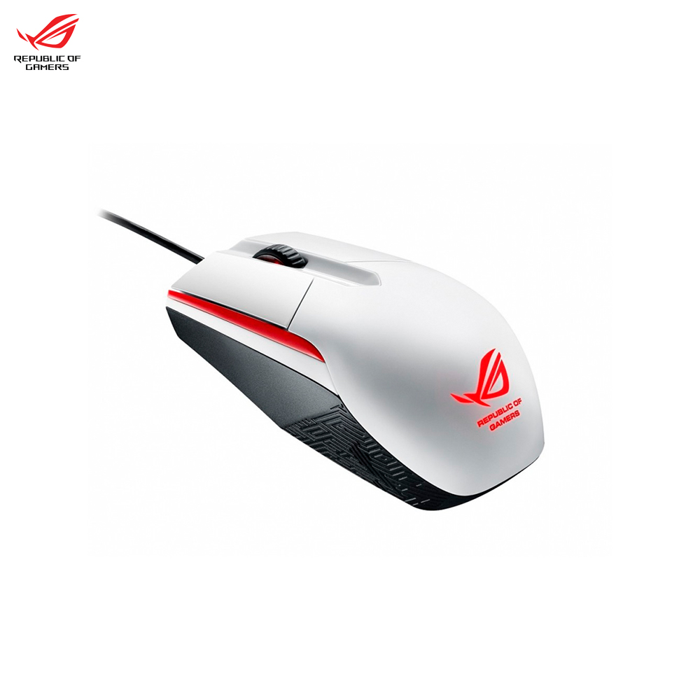 Mouse ASUS ROG SICA WHITE 90MP00B2-B0UA00 computer gaming wired Peripherals Mice & Keyboards e blue ems618 wired gaming mouse white