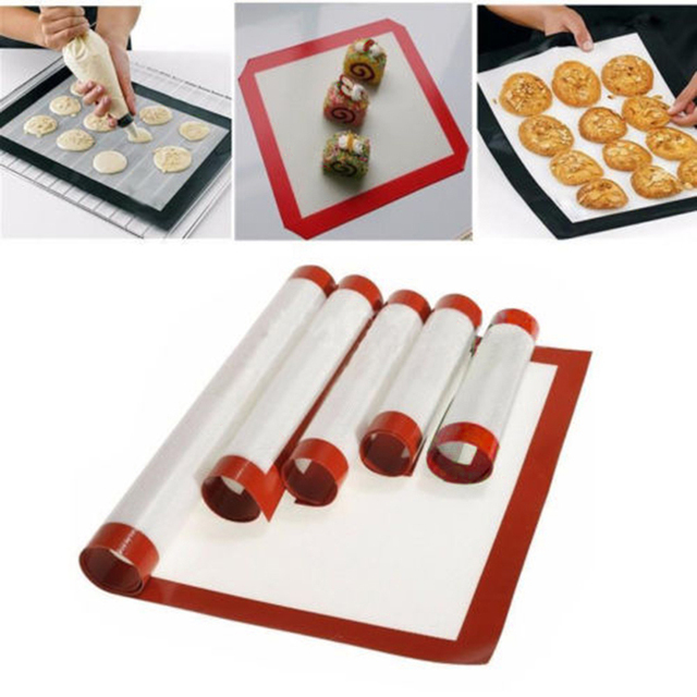 60 x 40cm/ 40 x 30cm Multi-Size Silicone Baking Mat Oven Baking Tray Sheet Pad Bakeware Pastry mold for Kitchen Supplies Gadgets