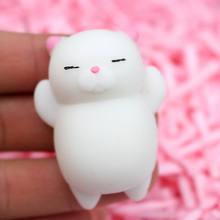 Iwish Сжимаемый мини сменный цвет мягкий милый кот Антистресс