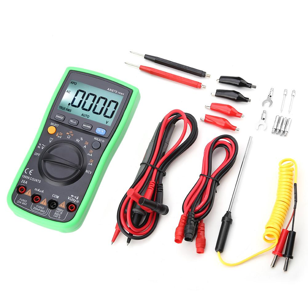 ANENG AN870 True RMS Auto Range Digital Multimeter AC DC Voltage Meter 19999 Counts