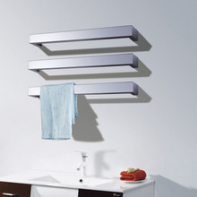 цена на Free Shipping Wall Mount Type Electric Heated Towel Warmer Rack Towel Bar Rail Bathroom Accessory Towel Dryer Shelf  HZ-924