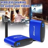 5.8GHz Wireless 24CH IR Remote AV Sender Audio Video Transmitter Receiver AC 100 240V Support 4 groups of channels
