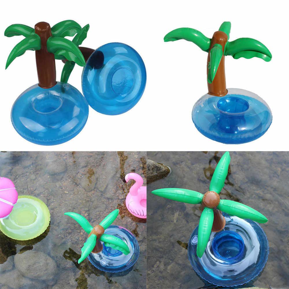 3D пальмовое дерево питьевой может Настольный держатель украшения надувная плавающая чашка держатель для мобильного телефона мыльницы 4