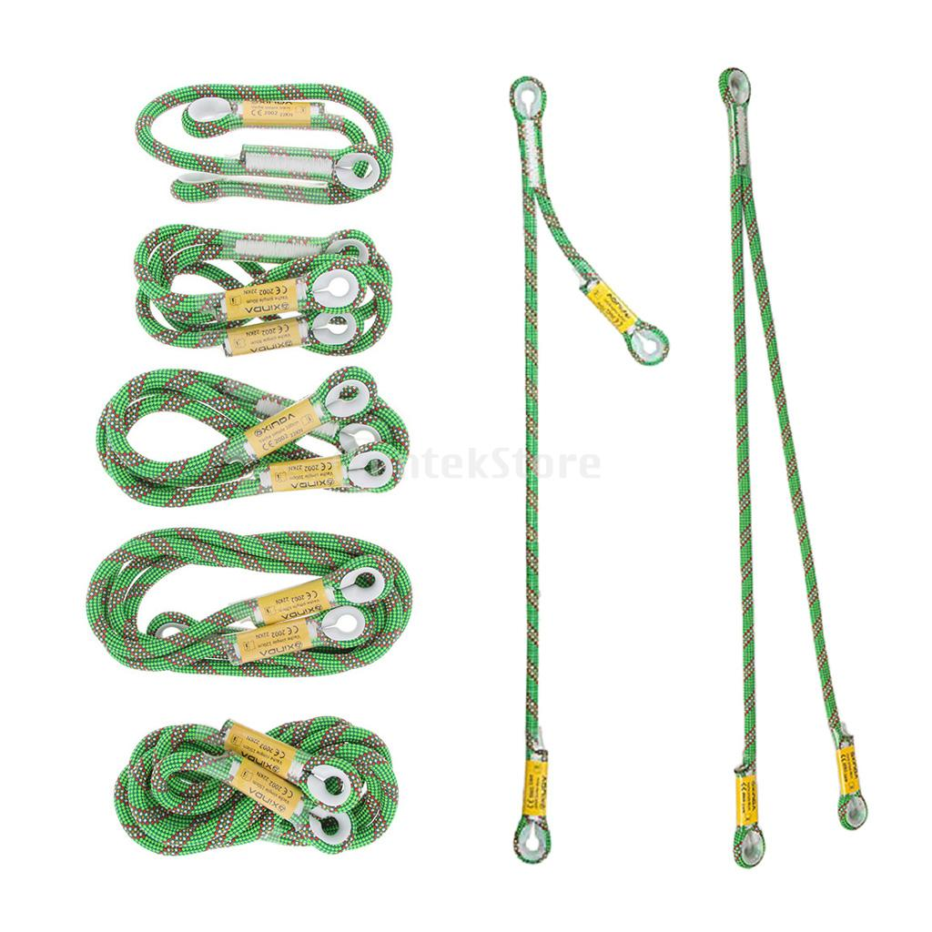 22kN Prusik Cord Loop For Climbing Tree Arborist Rescue Mountaineering Equipment Y / V Type Lanyard Optional
