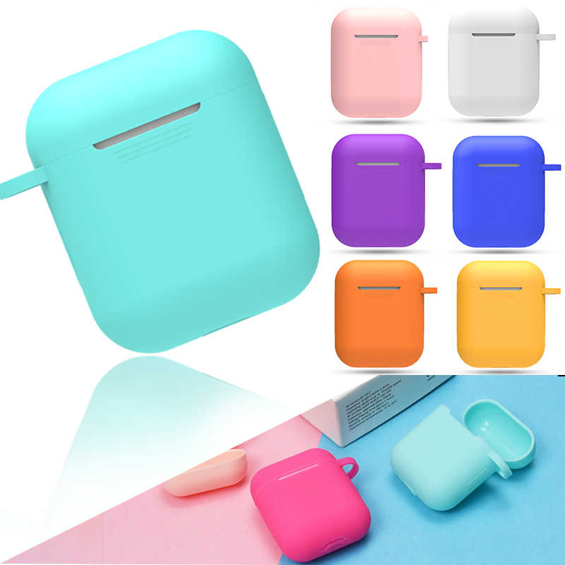 Soft Silicone Case Earphones For Apple Airpods Bluetooth Wireless Earphone Protective Skin Cover Box For Air Pods Ear Pods Bag
