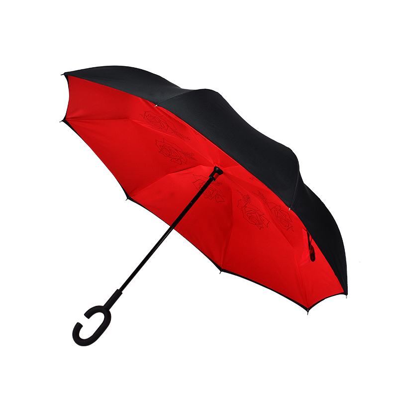 2019 new car inverted umbrella multicolor pure reverse umbrellas men inverted reversable umbrella in Umbrellas from Home Garden