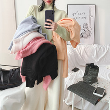2019 Winter sweater women Korean sheep hair blended softable half turtleneck pm9207
