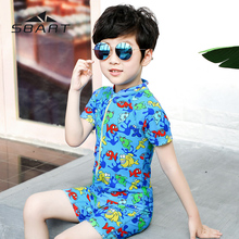 цена Baby Girls And Boys Rashguard Kids Beachwear Child One Piece Swimsuit Uv Protection Bathing Suit For Toddler Children Swimwear онлайн в 2017 году